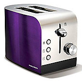 Morphy Richards Accents Stainless Steel 2 Slice Toaster - Plum