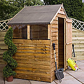 Mercia 4x6 Rustic Shed with Windows