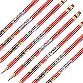 Fireman Sam Party Pencils with Erasers (8pk)