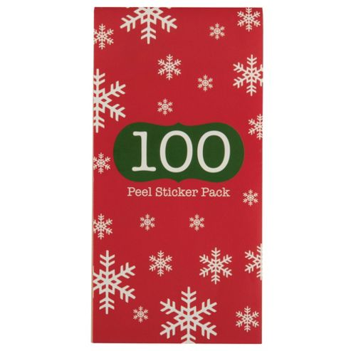 Tesco 100 Traditional Stick On Christmas Gift Tag Book