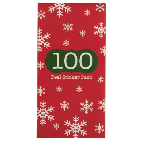 Tesco 100 Traditional Stick On Christmas Gift Tag Book