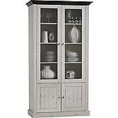Home Essence Riviera Tall Glazed Cabinet