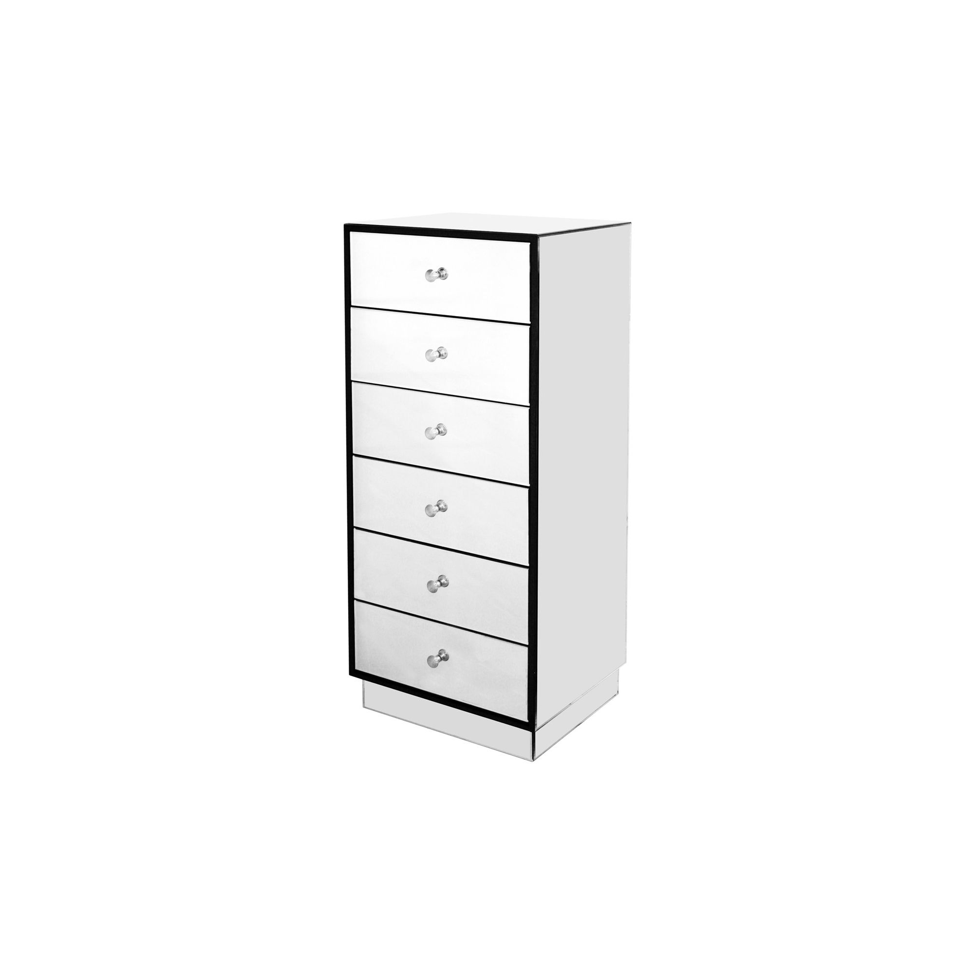 Home Essence Mirrored Chest of 6 Drawer at Tesco Direct