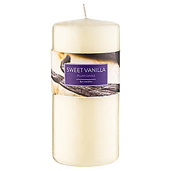 Tesco Sweet Vanilla Pillar Candle 170X80
