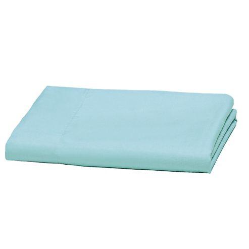 Tesco Fitted Sheet Single Aqua