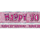 Dazzling Effects 70th Birthday Banner (each)