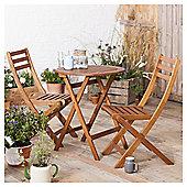 Wooden Garden Bistro Set