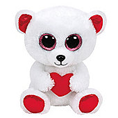 TY Beanie Boo Plush - Cuddly Bear 15cm (Valentines Exclusive)