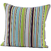 Homescapes Cotton Osaka Green Stripe Scatter Cushion, 45 x 45 cm