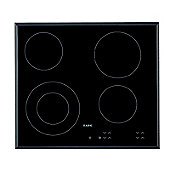 AEG HK624010FB Built In Ceramic Hob in Black 4 cooking areas 9 power levels
