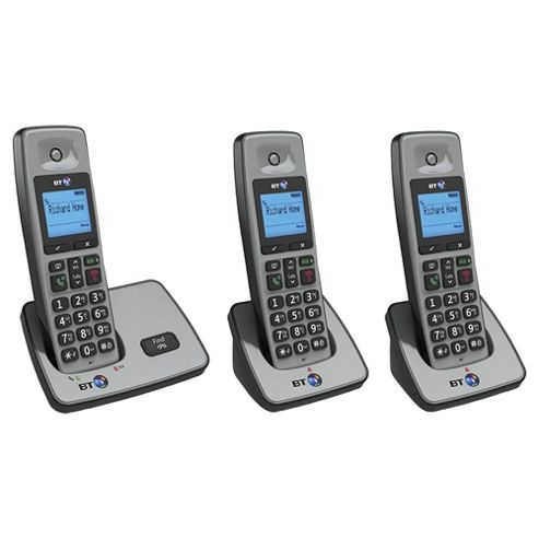 BT 2000 Cordless Triple Phone - Silver
