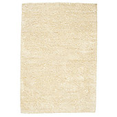 Husain International Plain Beige Shag Rug - 150cm x 90cm (4 ft 11 in x 2 ft 11.5 in)