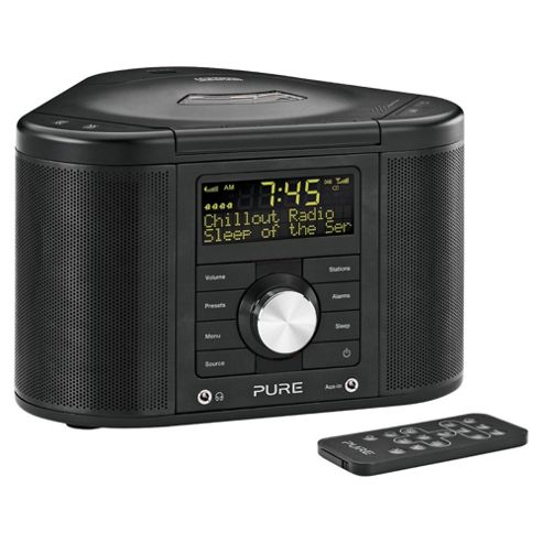buy pure chronos cd series ii dab fm radio cd black from our clock radio range tesco. Black Bedroom Furniture Sets. Home Design Ideas