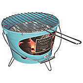 Tesco Portable Charcoal Bucket BBQ, Blue