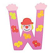 Tatiri Crazy Clown Letter W ((Purple) Flowers)