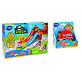 Vtech Bundle - Vtech Baby Racing Rampway And Vtech Baby Toot-toot Drivers Bus - 2 Items Supplied