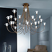 Metal Lux Free Spirit Twenty-Four Light Chandelier - Without Shade
