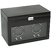 Wolf Designs Watch Winder with Cover and Watch Storage - Double