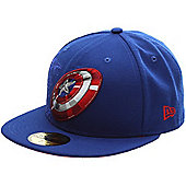 New Era Cap Co Action Fitted Captain America Fitted Cap Size: 7 inch