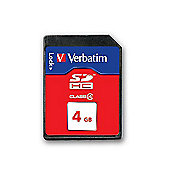 Verbatim 4 GB SecureDigital SDHC Class 4