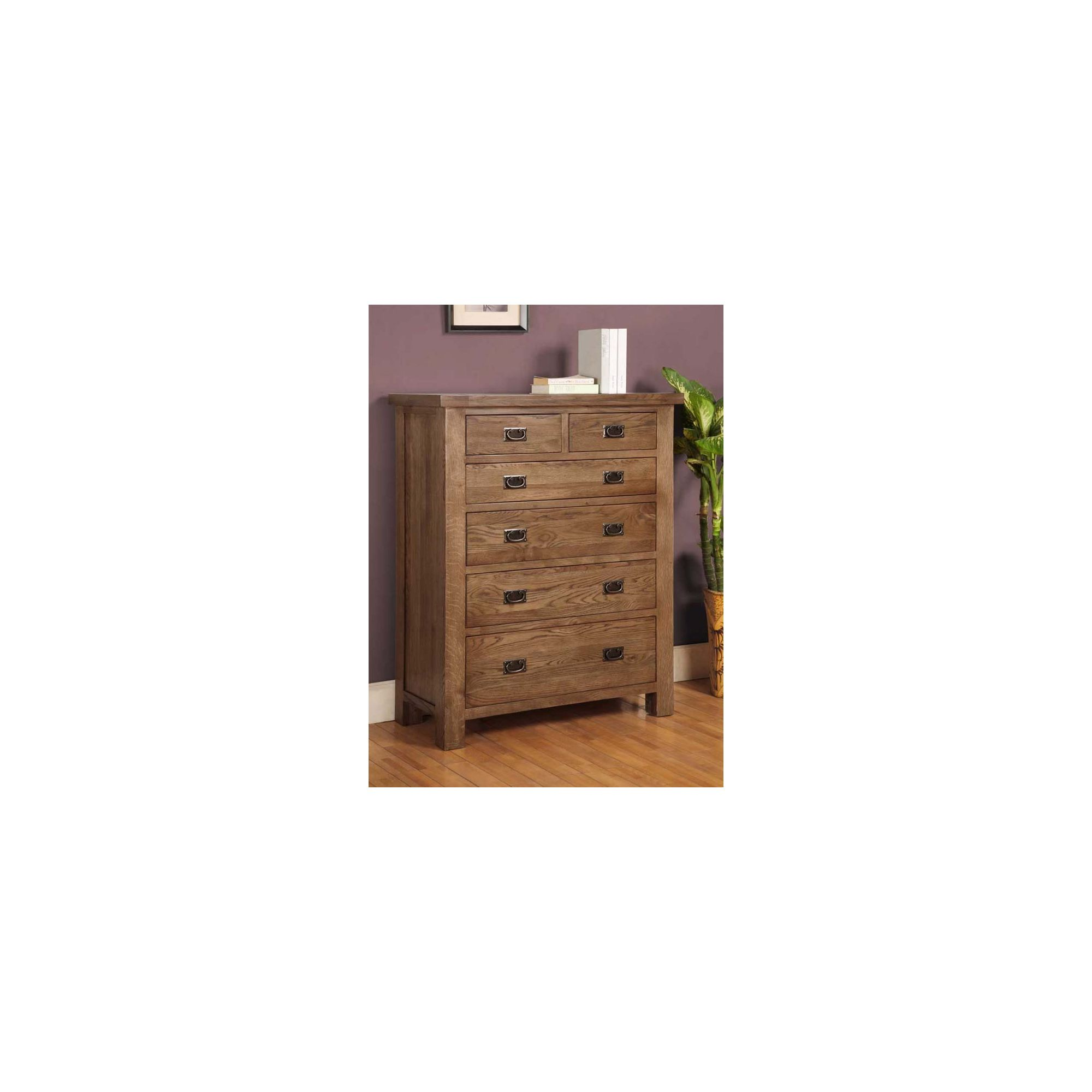 Hawkshead Brooklyn Six Drawers Chest in Rich Patina at Tesco Direct