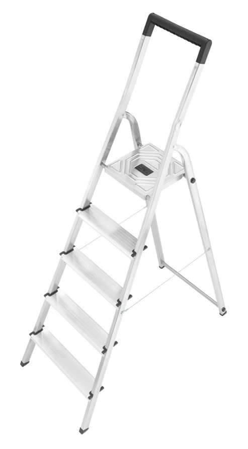Hailo 281cm L40 Aluminium Safety Household Ladder with black Fracture-Proof