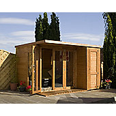 Mercia Garden Products Garden Room with Side Shed - 211 cm H x 303 cm W x 244 cm D