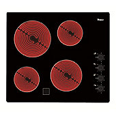 Whirlpool AKM359NE Black Four Zone 60cm Ceramic Hob