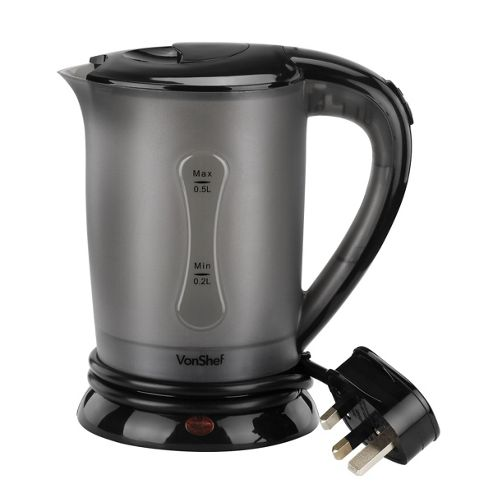 buy vonshef travel kettle with 2 cups from our all kettles. Black Bedroom Furniture Sets. Home Design Ideas