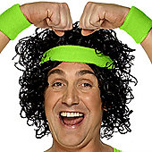 Smiffy's - Green Sweatband Set