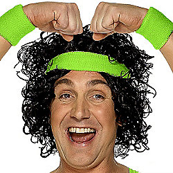Smiffy's - Green Sweatband Set