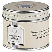 Tesco Apothecary Sandalwood and Basil Candle in a Tin
