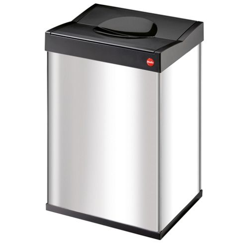 Hailo 40L Stainless Steel Push Down Bin - Self Closing Swing Lid