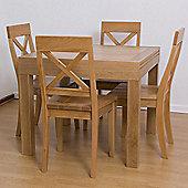G&P Furniture 5 Piece Square Extending Dining Set