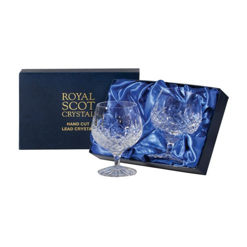 buy royal scot crystal london set of 2 brandy glasses in blue presentation box 400ml lonb2br. Black Bedroom Furniture Sets. Home Design Ideas
