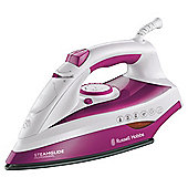 Russell Hobbs 19220 variable Steam Generator with Ceramic Plate - White/Maroon
