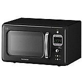 Daewoo KOR7LBKB 800W Black 20L Retro Collection Microwave