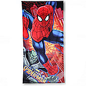 Character Ultimate Spiderman 'Force' Printed 100% Cotton Beach Towel
