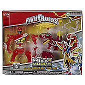 Power Rangers Mixx N Morph Red Ranger and T-Rex zord