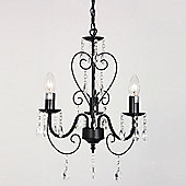 Lille Five Way Ceiling Light Chandelier in Black
