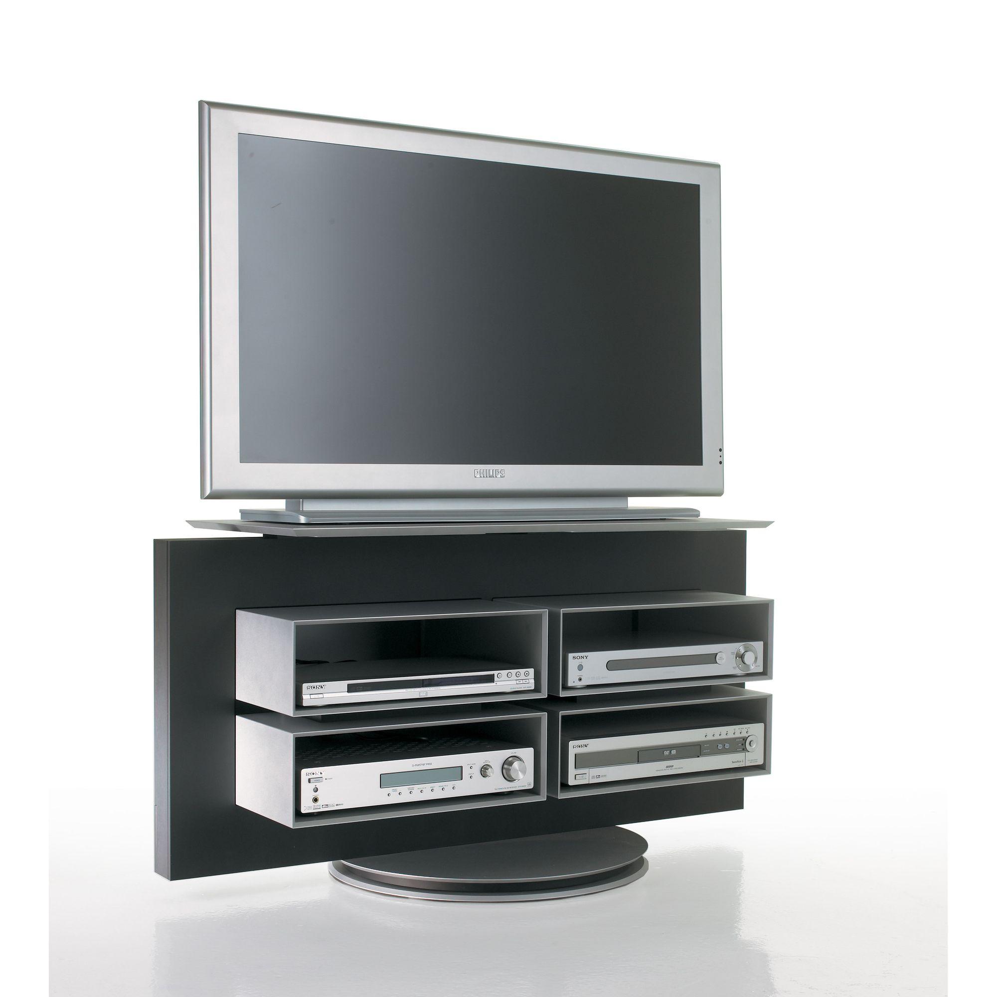 Luke Furniture TV Stand - Dark Grey at Tesco Direct