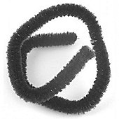 Chenille 9 mm Black Bulk pack of 100