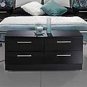 Welcome Furniture Knightsbridge 4 Drawer Bed Box - Black - Aubergine