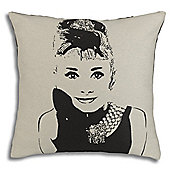 Thomas Frederick Audrey Hepburn Filled Cushion