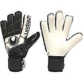 Uhlsport Pro Comfort Textile Goalkeeper Gloves - Black