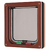 Pet Mate Cat Flap Brown 304b