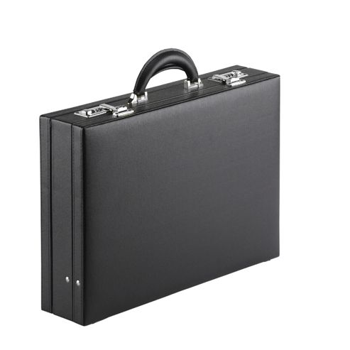 Falcon Leather look stylish lockable attache case, Perfect business briefcase for men