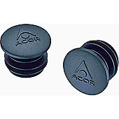 Acor Plastic Handlebar End Caps. One Pair, Black