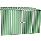 10ft x 5ft Space Saver Pale Eucalyptus Metal Shed (3m x 1.52m)