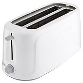 Tesco Basics 4 Slice Toaster - White